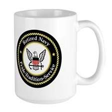 Retired Navy Chief <BR>15 Ounce Coffee Mug