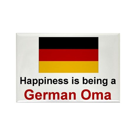 Happy German Oma Rectangle Magnet