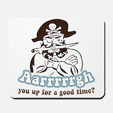 Arrrrgh Funny Pirate Mousepad