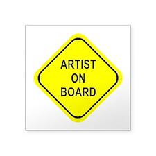 Artist On Board Sticker