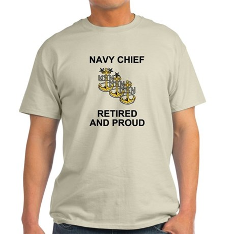 Retired Navy Chief <BR>Ash Grey T-Shirt