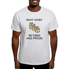 Retired Navy Chief <BR>Ash Grey T-Shirt