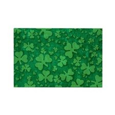 Shamrock Pattern Rectangle Magnet