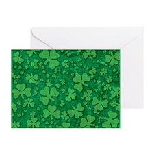 Shamrock Pattern Greeting Cards (Pk of 20)
