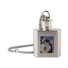 Husky #1 Flask Necklace