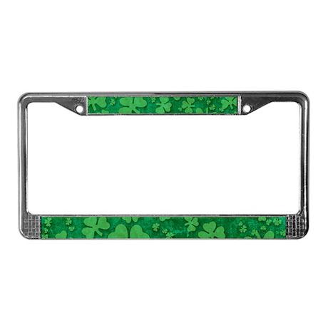 Shamrock Pattern License Plate Frame