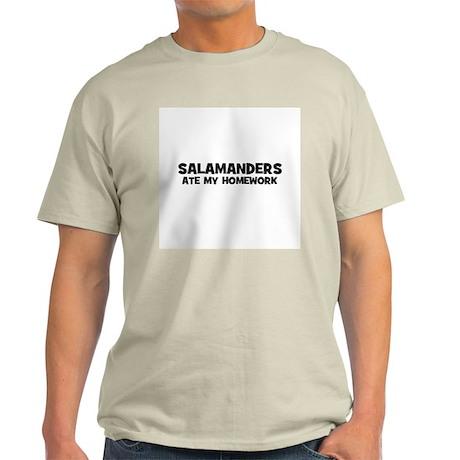 Salamanders Ate My Homework Ash Grey T-Shirt