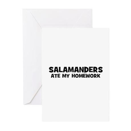 Salamanders Ate My Homework Greeting Cards (Packag