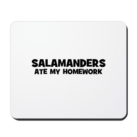 Salamanders Ate My Homework Mousepad
