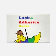 Lack Of Adhesive Ducks Rectangle Magnet