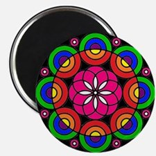 Radial Design Circle Art Mandala Magnet