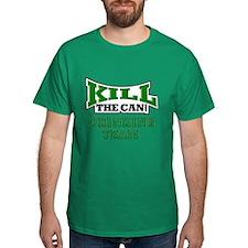 KillTheCan.org Drinking Team Kelly Green T-Shirt