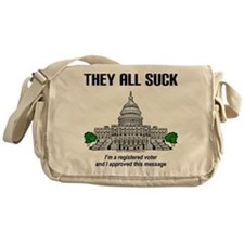 """""""I approved this message."""" Messenger Bag"""