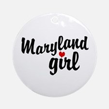 Maryland Girl Ornament (Round)