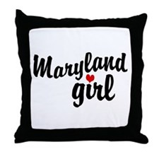 Maryland Girl Throw Pillow