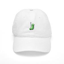 Cute Silly Worm on Fishing Hook Baseball Cap
