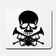 Skull with Trumpets Mousepad