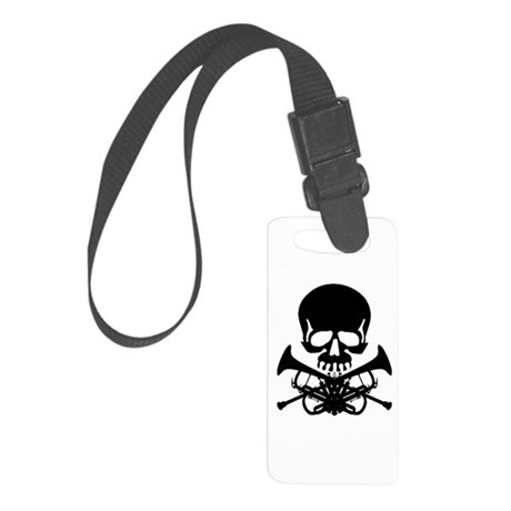 Skull with Trumpets Luggage Tag