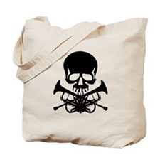 Skull with Trumpets Tote Bag