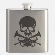 Skull with Trumpets Flask