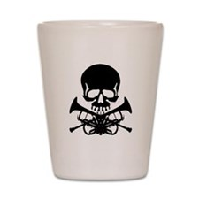 Skull with Trumpets Shot Glass
