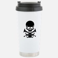 Skull with Trumpets Travel Mug