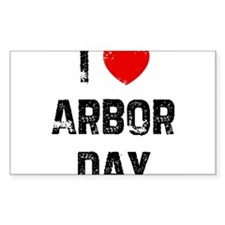 I * Arbor Day Rectangle Decal