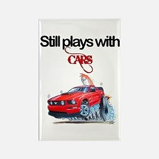 StillPlaysWithCars.jpg Rectangle Magnet