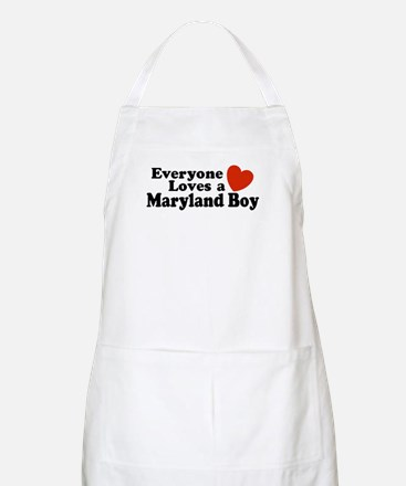 Everyone Loves a Maryland Boy BBQ Apron