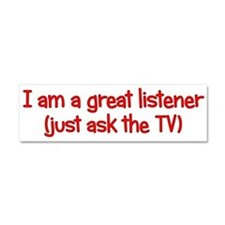 Great TV Listener Car Magnet 10 x 3