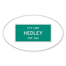 Hedley, Texas City Limits Decal