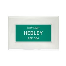 Hedley, Texas City Limits Rectangle Magnet