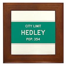 Hedley, Texas City Limits Framed Tile