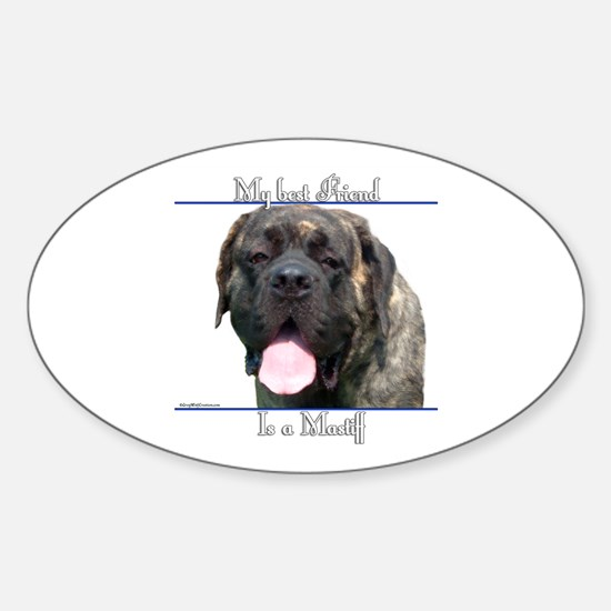Brindle 18 Oval Decal