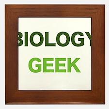 Biology Geek Framed Tile
