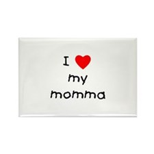 I love my momma Rectangle Magnet (100 pack)