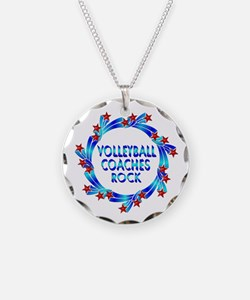 Volleyball Coaches Rock Necklace