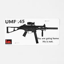 Cute Gun 45 Aluminum License Plate