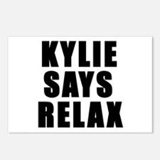 Kylie says relax Postcards (Package of 8)