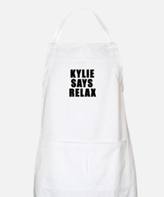 Kylie says relax BBQ Apron