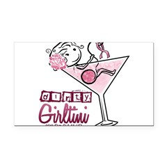 Dirty Girltini (For the Girls) Rectangle Car Magne