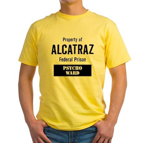 Property of Alcatraz Yellow T-Shirt