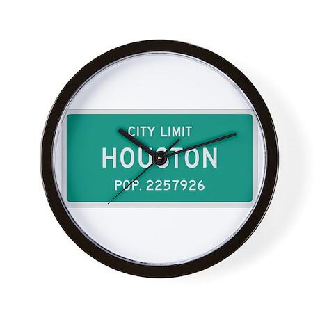 Houston, Texas City Limits Wall Clock