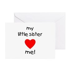 My little sister loves me Greeting Cards (Package