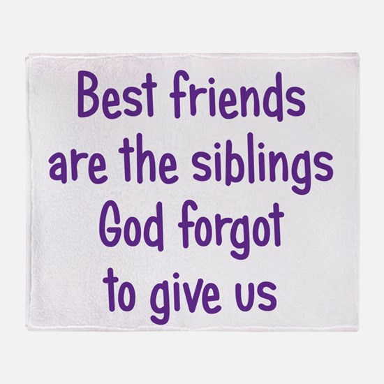 God and Best Friends Throw Blanket