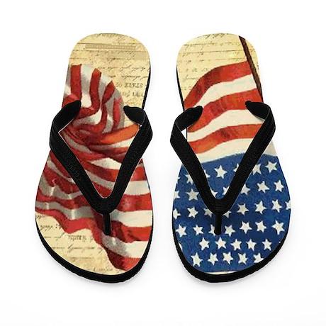 American Flag Constitution Flip Flops