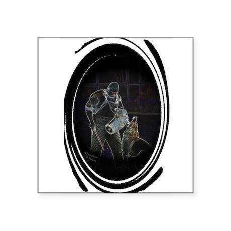 German Shepherd Dog Schutzhund Oval Sticker