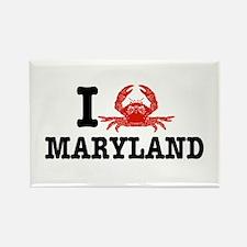 I Love Maryland Rectangle Magnet
