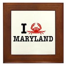 I Love Maryland Framed Tile
