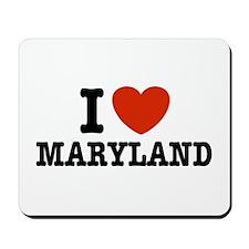 I Love Maryland Mousepad